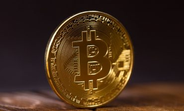 Large bitcoin made of gold