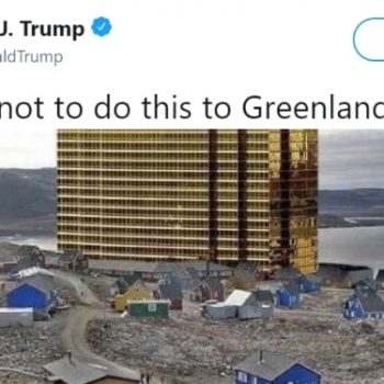 Trump Buyout Greenland Tweet