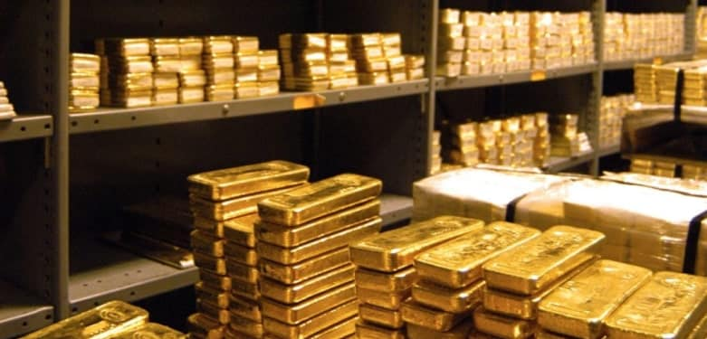 Gold Bugs: Pay Close Attention to This Data, gold bars in storage