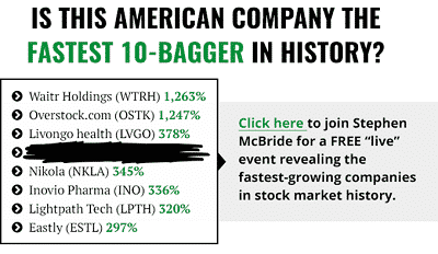 Is this american company the fastest 10-bagger in history