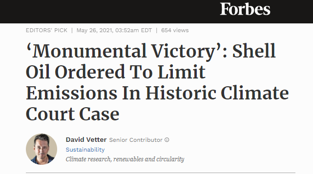 monumental victory shell oil ordered to limit emissions